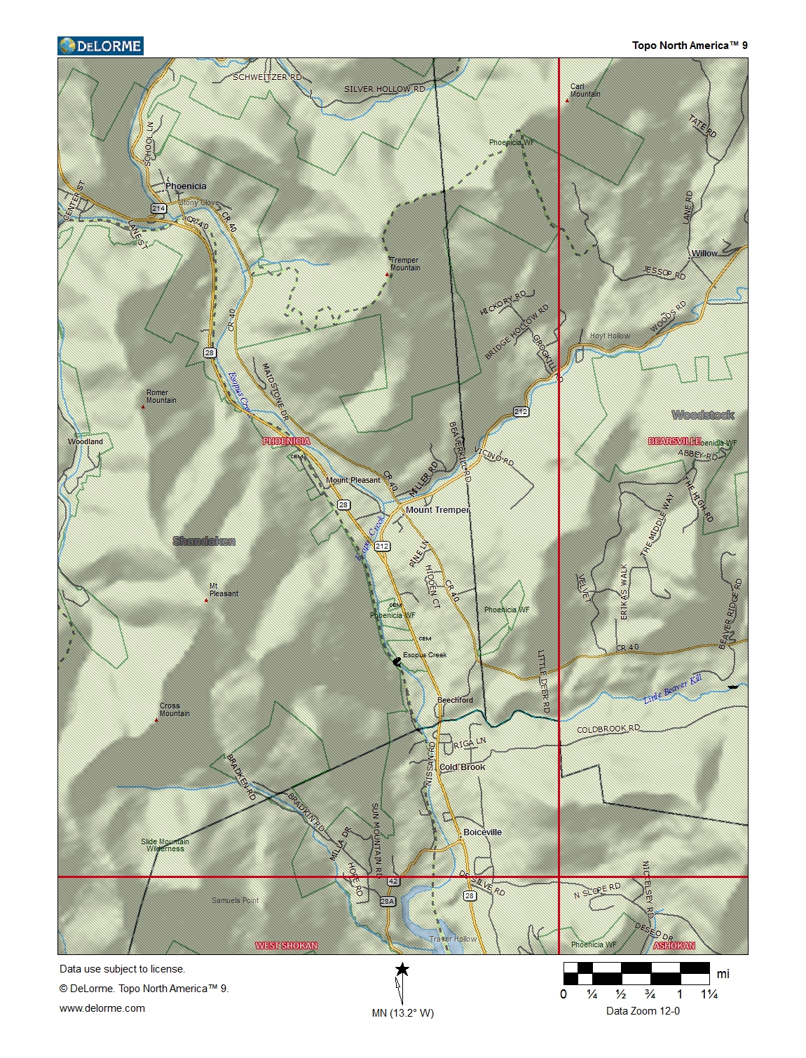 Mount Tremper Area Topographic Map