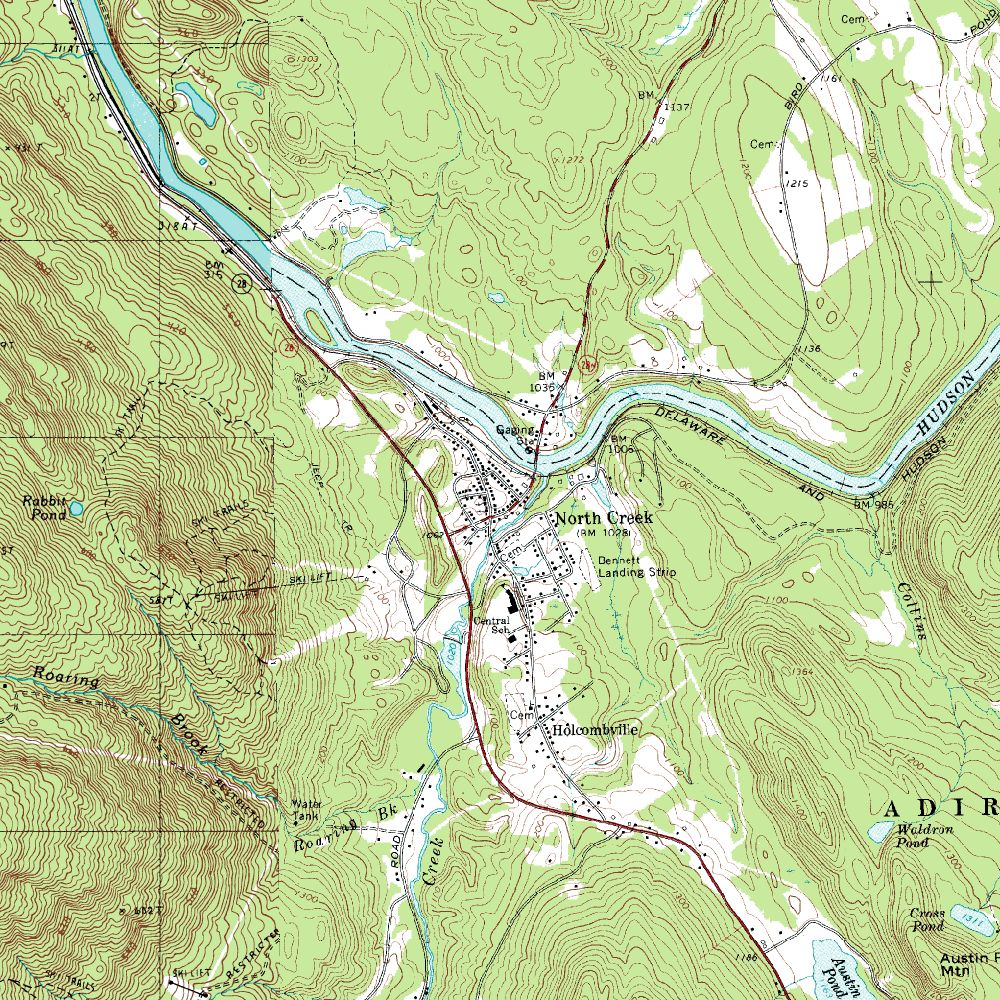 North Creek Topographic Map