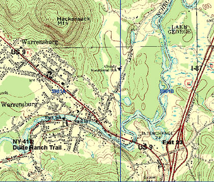 Topographic Map of Warrensburg Center
