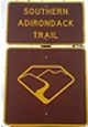 Southern Adirondack Trail sign