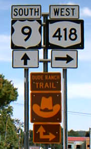 Dude Ranch Trail Route Sign