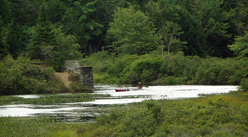 Canoeing on the Middle Branch of Moose River from the NY 28 Bridge
